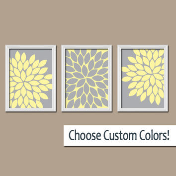 yellow gray wall art canvas girl nursery from trm design. Black Bedroom Furniture Sets. Home Design Ideas