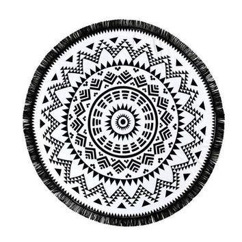 LMF9GW Stylish 2016 New Arrival Round Hippie Tapestry Beach Throw Roundie Mandala Towel Yoga Mat Bohemian Style Free Shipping JL23