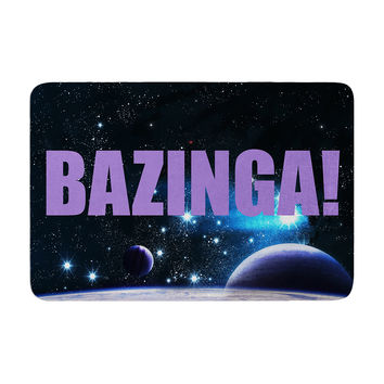 "KESS Original ""Bazinga Purple"" Space Memory Foam Bath Mat"