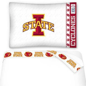 NCAA Iowa State Cyclones Sheets Set College Football Bedding