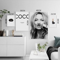 Kate Moss Lipstick Poster Oil Spray Painting - Free Shipping
