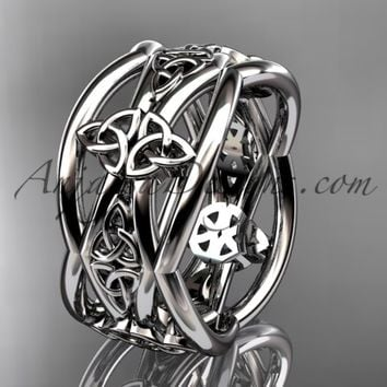 platinum celtic trinity knot wedding band, engagement ring CT7519G