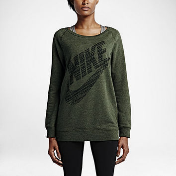 The Nike Rally Boyfriend Fit Big Logo Crew Women's Top.