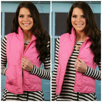 Invest In Me Pink Puffer Vest