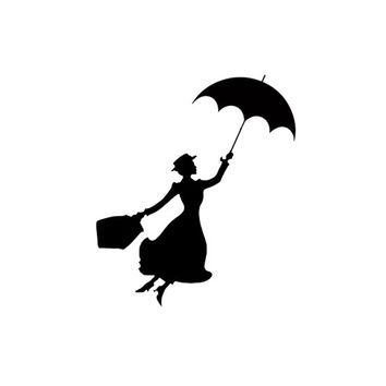 Mary Poppins silhouette stamp Birthday DIY Scrapbook
