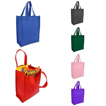 "DALIX 10"" Grocery Bag Reuseable Shopping Tote Eco-Friendly Material (10-Pack)"