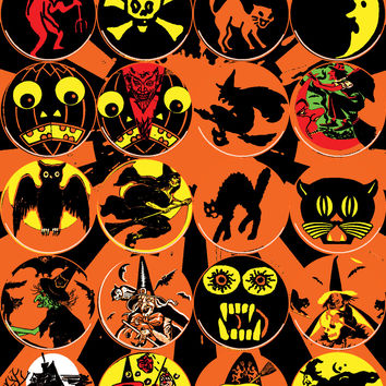 "SMALL 1.25"" BLITZKRIEG BUTTONS - COINS FROM HALLOWEEN ISLAND - S113"