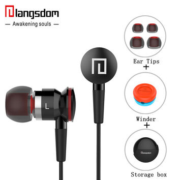 Langsdom A10 ErgoFit Best in Class InEar Earbud Earphones Dynamic Crystal Clear Sound Ergonomic Comfort-Fit for all mobile phone