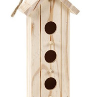 Darice 9149-21 Unfinished Wood Natural Bird House, 9-Inch