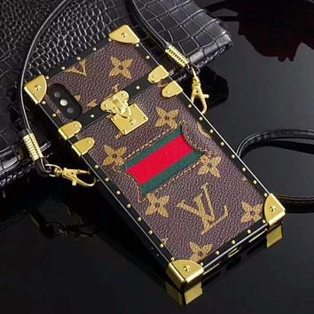 GUCCI LV Louis Vuitton Hot Sale iPhone Phone Cover Case For iphone 6 6s 6plus 6s-plus 7 7plus iPhone X XR XS XS MAX