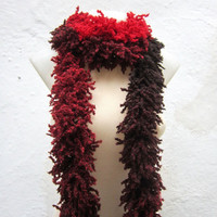 Red Black   Knit Scarf Fall Fashion   Winter  Accessories