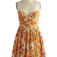 Safflower Fan Dress