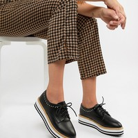 Pimkie Contrast Studded Brogues at asos.com