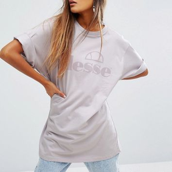 Ellesse Oversized T-Shirt With Tonal Logo at asos.com