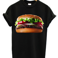 Whopper burger black t shirt