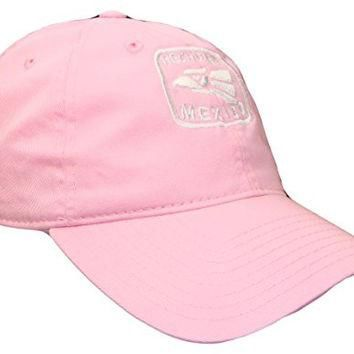 THS Hecho En Mexico Low Profile Polo Baseball Cap (One Size, Pink/White)