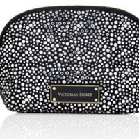 Victoria's Secret Bling Bold Black Cosmetics Makeup Bag - Limited Edition of VS Fashion Show London 2014