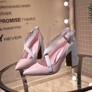 New Arrivals LV Louis Vuitton Women Trending Leather pink High Heel Shoes Boots Best Quality