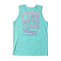 On Lake Time Tank in Chalky Mint by Jadelynn Brooke