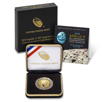 2019-W $5 Proof Gold Apollo 11 50th Anniversary Coin