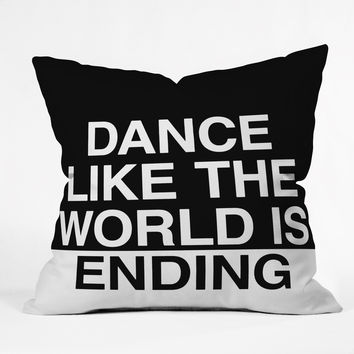 Leeana Benson Dance Like the World Is Ending Throw Pillow