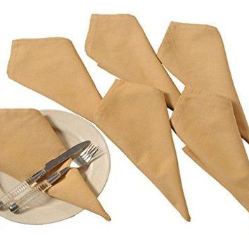 Yuga Plain Dinner Napkins Set 100 Cotton Table Linen Napkins Set of 6 Pcs 17 X 17 Inches