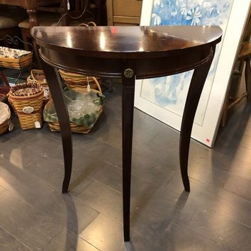 Bombay Company, Demi Lune Cherry Entry Accent Table
