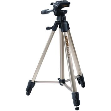 """Sunpak Tripod With 3-way Pan Head (folded Height: 20.8""""; Extended Height: 60.2""""; Weight: 2.3lbs; Includes 2nd Quick-release Plate) SPK620080"""