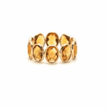 Tresor Collection - Citrine Ring Band in 18K Yellow Gold