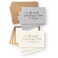 It's the Most Wonderful Time Card Pack | Cards | Oliver Bonas