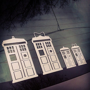 TARDIS Family  Doctor Who Car Decal Sticker