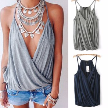 Hot Sleeveless Loose Beach Cover Up Top