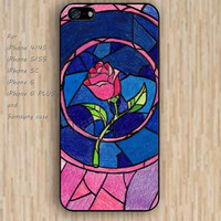 iPhone 5s 6 case Beauty and beast rose dream catcher colorful phone case iphone case,ipod case,samsung galaxy case available plastic rubber case waterproof B622