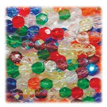 FPR03MIX17 - Czech Glass Fire Polish Beads, Rainbow AB, 3mm | Pkg 1 Strand