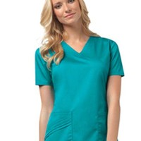 Buy Cherokee Luxe Women Solid V-neck Nursing Scrub Top for $21.95