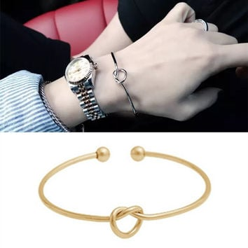 Hot New Fashion Classic Copper Wire Knot Bangles For Women Unique Design Girl Party Bracelets Free Shipping