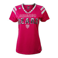Chicago Bears Women's Pink Bears Draft Me VI Jersey Tee - Clark Street Sports