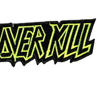 """OVERKILL Thrash Metal Logo Iron On Embroidered Patch 3.7""""/9.6cm"""