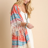 Lighthearted Summer Cardigan - Coral
