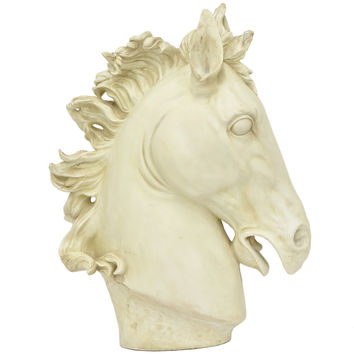 Resin horse head figurine - an