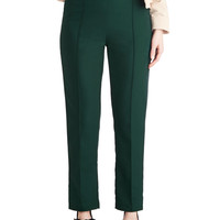 ModCloth Pinup High Waist Keynote Address Pants in Teal