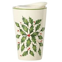 Holiday Festive Travel Mug by Lenox