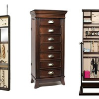 Hives & Honey Mirrored and Standing Jewelry Armoires from $99.99–$199.99