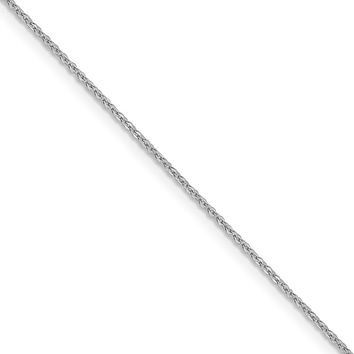 1.3mm 10k White Gold Flat Cable Chain Necklace