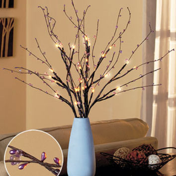 Crystal Beaded Light-Up Branches