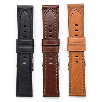 Toscana Genuine Horween Leather Panerai Style Watch Strap