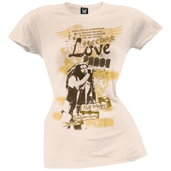 Bob Marley - Lyrics Juniors T-Shirt