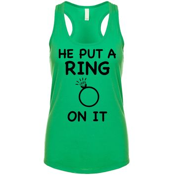 He Put A Ring On It Women's Tank