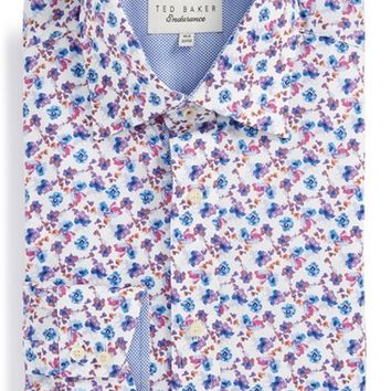 Men's Ted Baker London 'Wroxall' Trim Fit Floral Print Dress Shirt