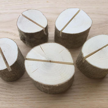 100 Wedding Place Card Holders, Rustic Weddings Table Decor, Natural Hazel Wood Place Card Holders, Rustic Hazel Wood Place Card Holders